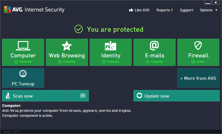 AVG 2013 User Interface
