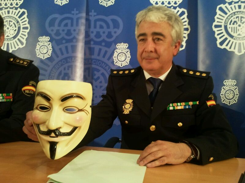 Spain Arrests Members of Anonymous