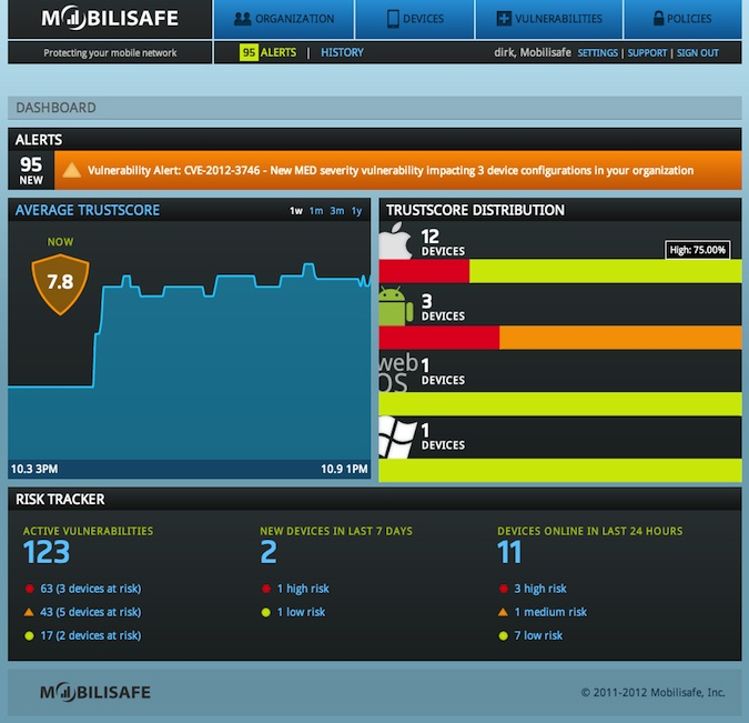 MobiliSafe screenshot