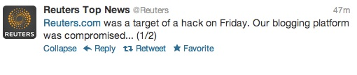 Reuters Hacked