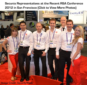 Secunia Employees at RSA Conference 2012