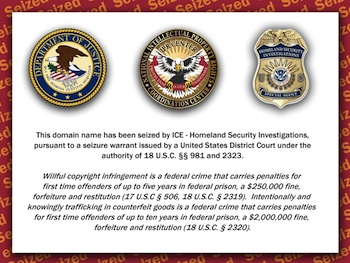 Seized Domain Names, Operation In Our Sites