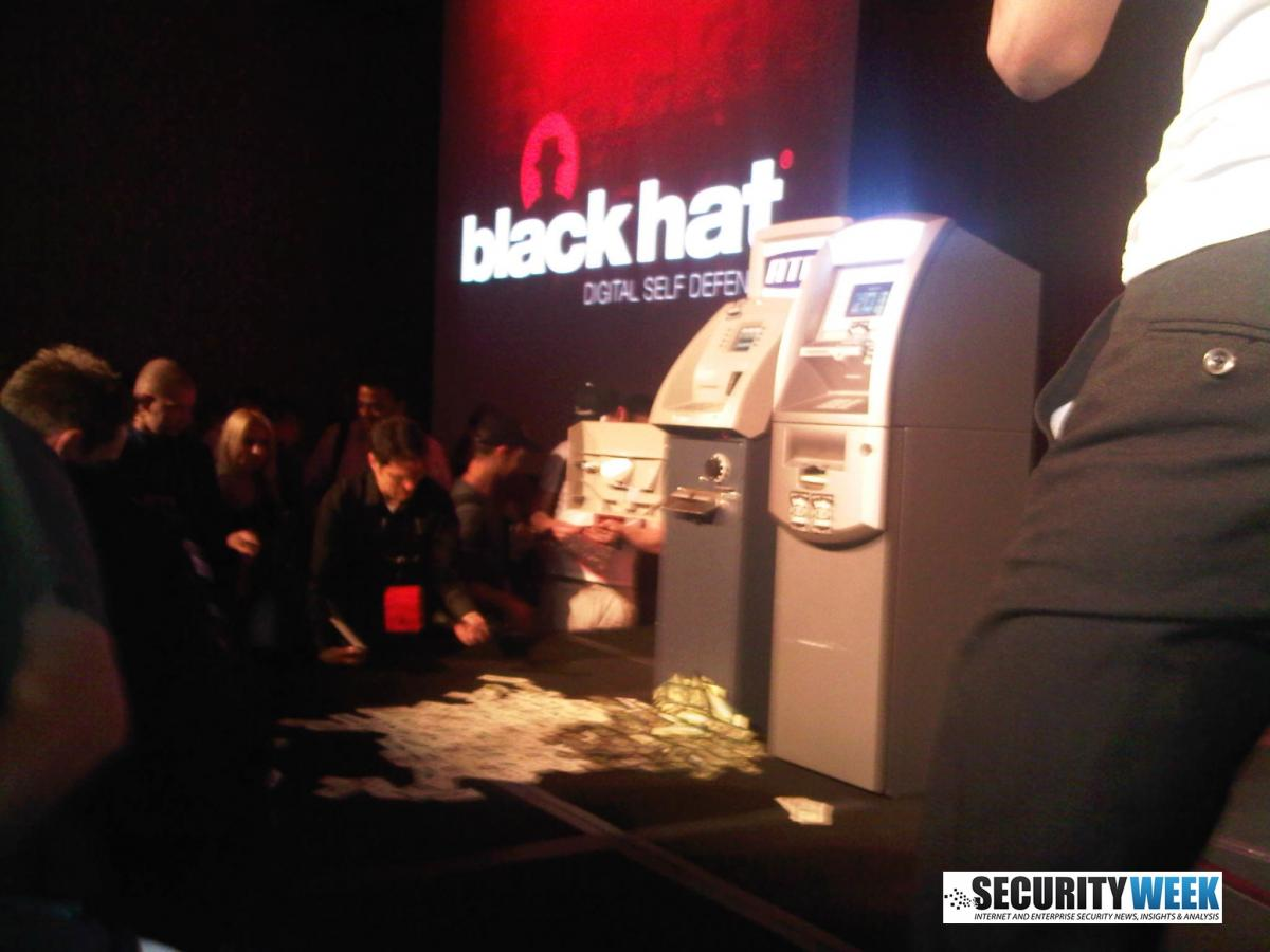 "Black Hat Attendees Grab Cash From ""Jackpotted"" ATM"