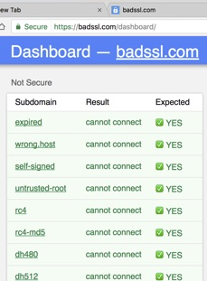 BADSSL Inspection