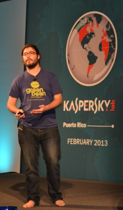 Chris Soghoian Photo at Kaspersky Lab Security Analyst Summit