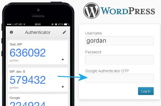 Google Authenticator TOTP Screenshot