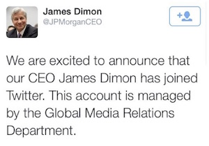 Jamie Dimon Fake Twitter Screenshot