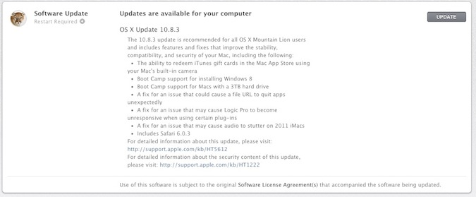 10.8.3 Software Update