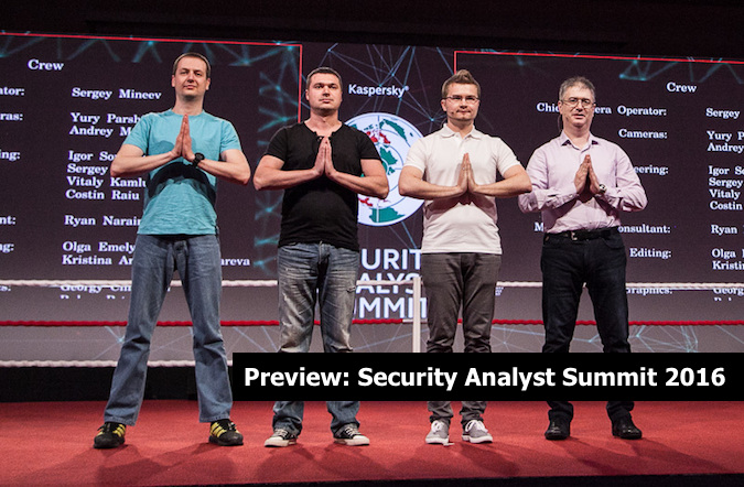 Kaspersky Security Analyst Summit 2016
