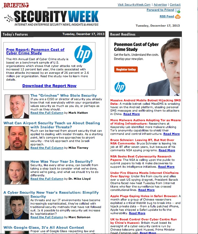 Subscribe to SecurityWeek