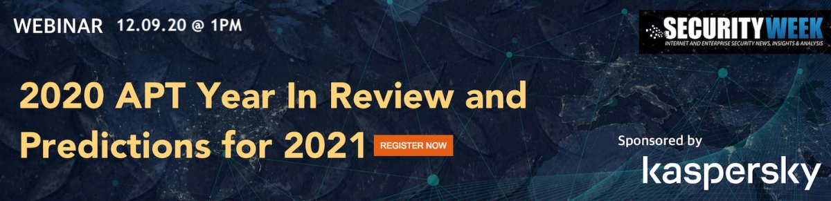 Webinar: 2020 APT Year in Review and Predictions for 2021