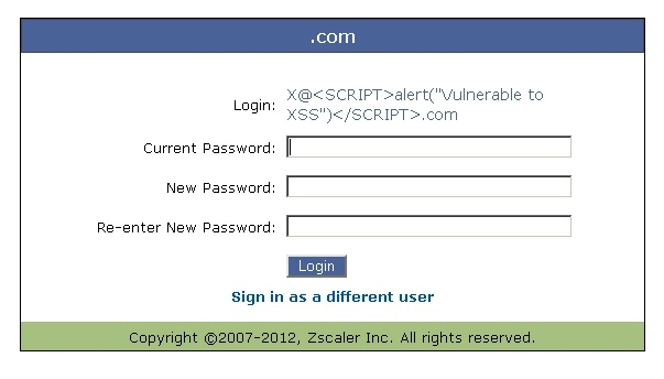 Zscaler XSS Flaw