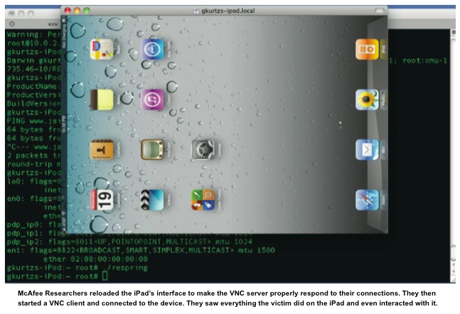 Hacking iPad Remotely