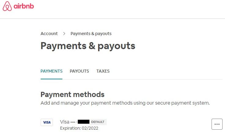 Accidental access to Airbnb account with valid credit card