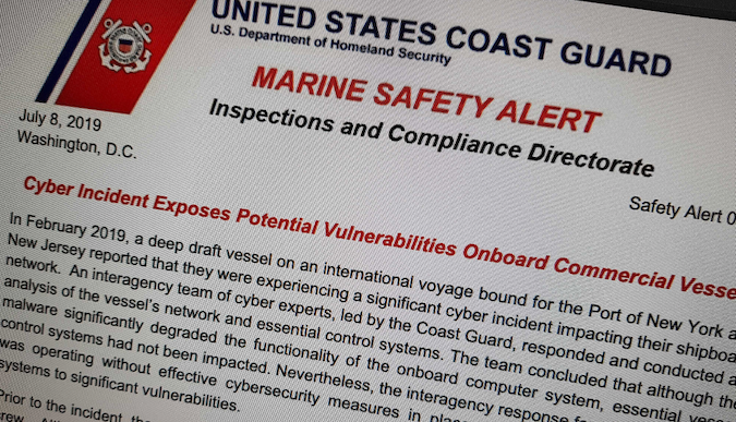Coast Guard cybersecurity alert