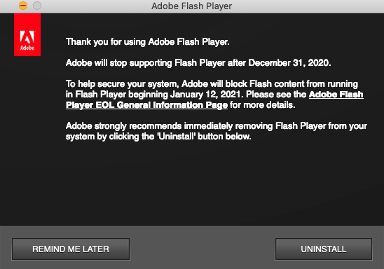 Flash content blocked