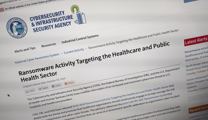 US hospitals warned of imminent ransomware threat