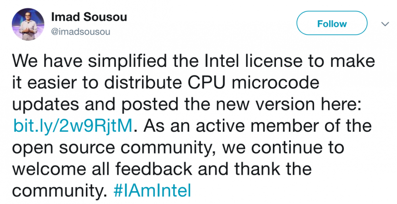 Intel allows microcode update benchmarks after user complaints