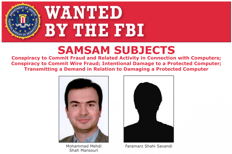Mohammad Mehdi Shah Mansouri and Faramarz Shahi Savandi on FBI's Most Wanted list