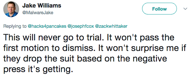Response to Keeper Security suing Ars Technica and Dan Goodin