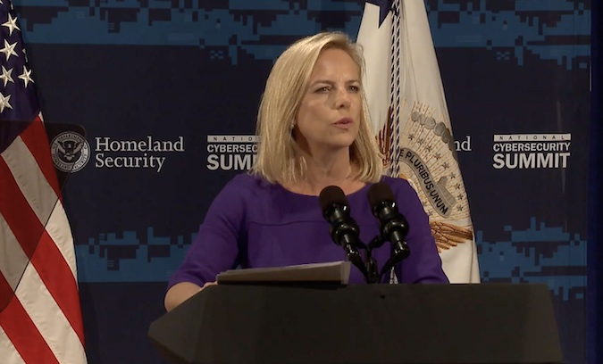 Kirstjen Nielsen introduces National Risk Management Center