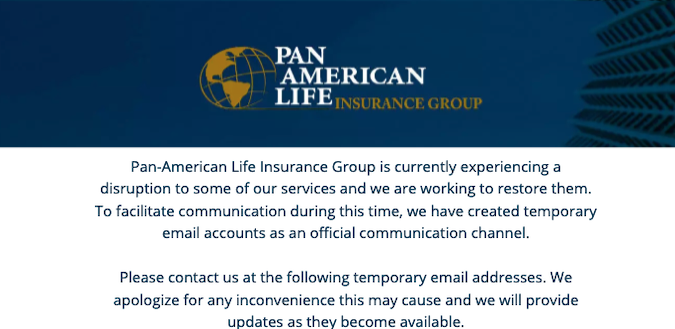 Pan-American Life Insurance Group (PALIG) targeted in cyberattack