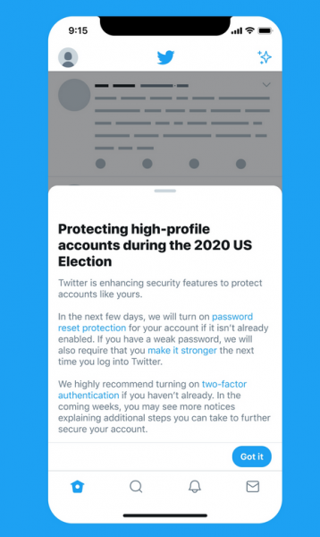 Twitter Taking Steps to Protect Election-Related Accounts