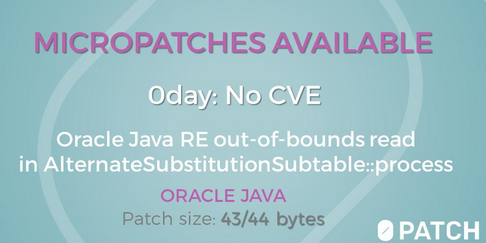 Java patches released by 0patch