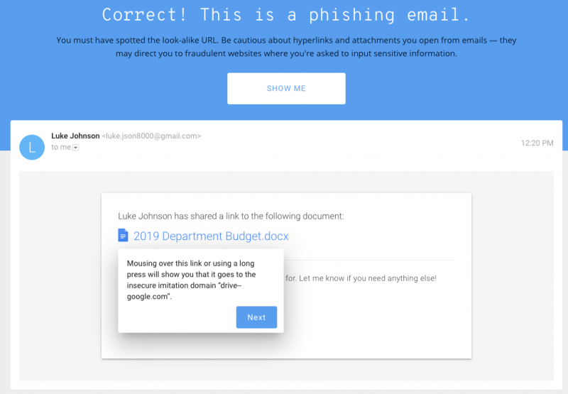 Jigsaw phishing quiz