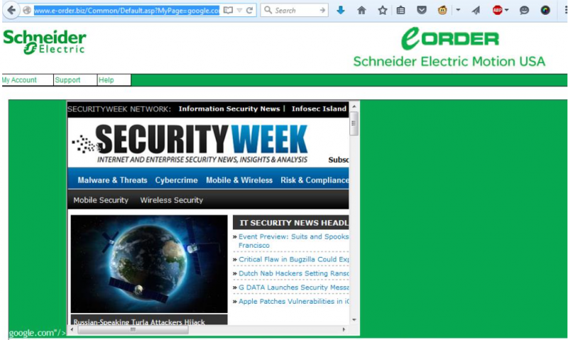 Schneider Electric Motion USA XSS
