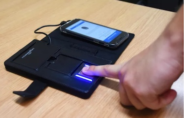 UK Met Police Fingerprint scanner
