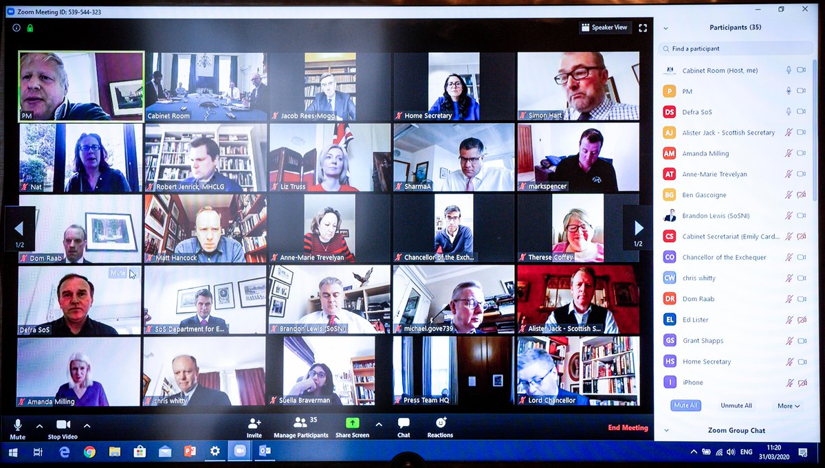 UK government using Zoom meeting poses risks